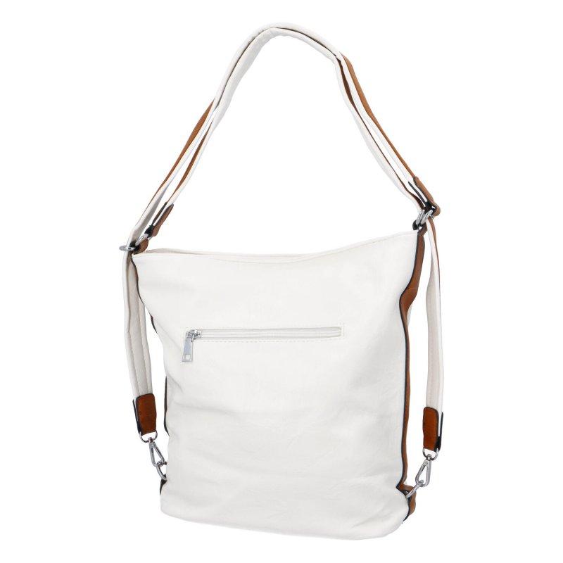 Praktická dámská koženková taška/batoh Hervé II, béžová