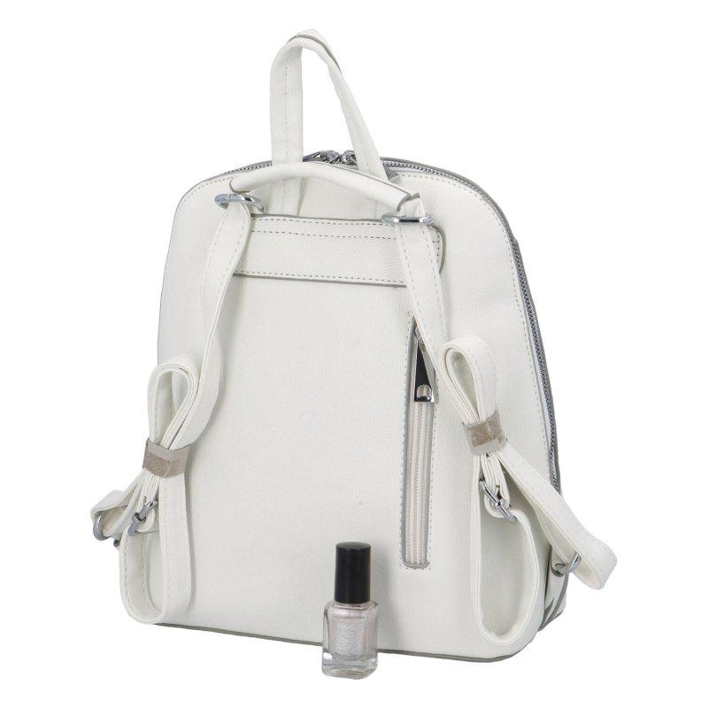 Elegantní městský batůžek Edita, bílý