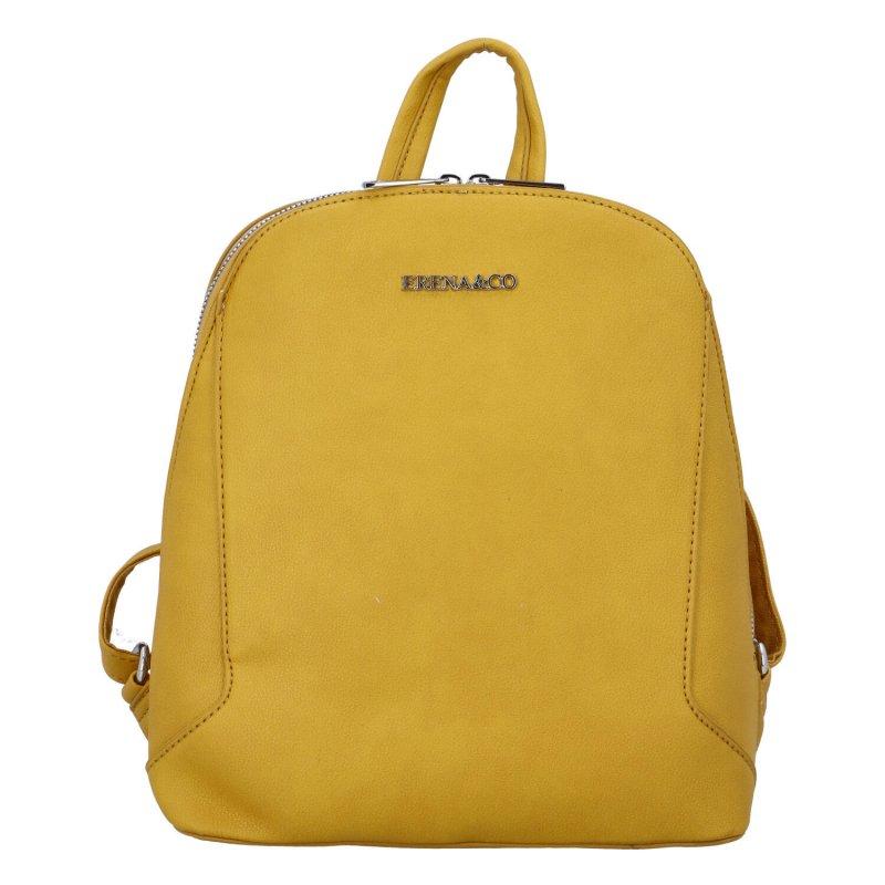 Elegantní městský batůžek Edita, žlutý