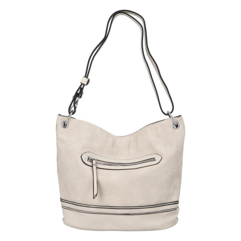 Praktická dámská koženková taška Mirma, béžová