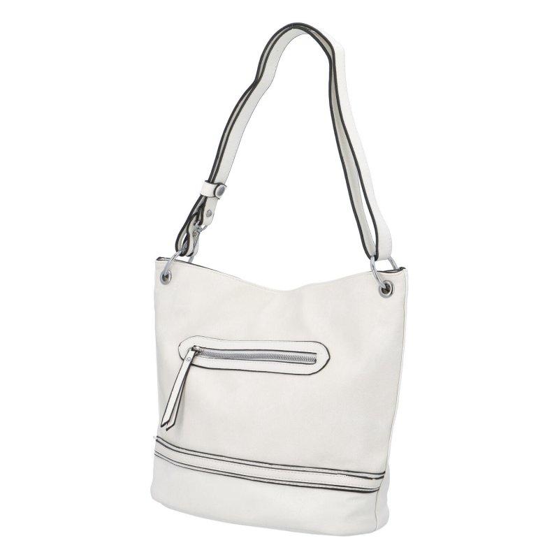 Praktická dámská koženková taška Mirma, bílá