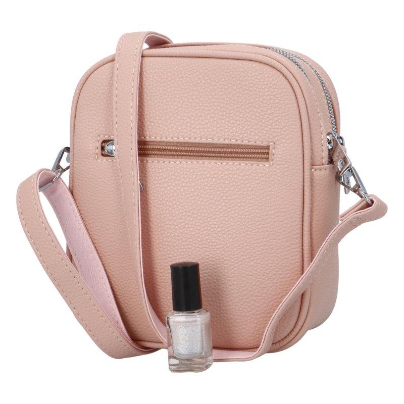 Dámská koženková kabelka Emra style, růžová