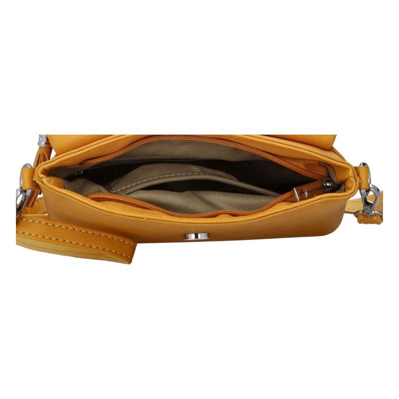 Dámská koženková kabelka Ema stylish, žlutá