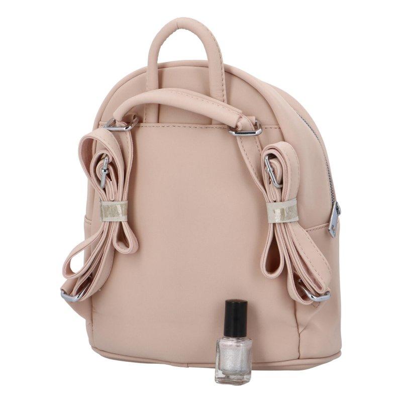 Dámský koženkový batoh Sybil Lara, růžový