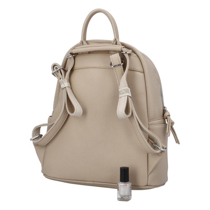 Dámský koženkový batoh Tobias, apricot