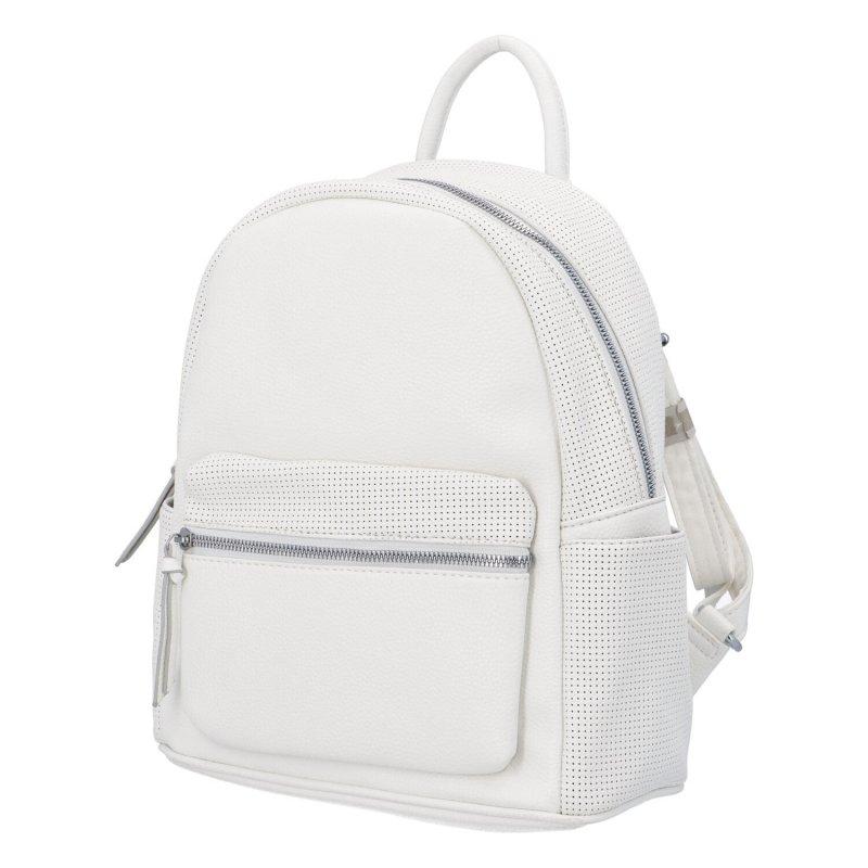 Dámský koženkový batoh Tobias, bílý