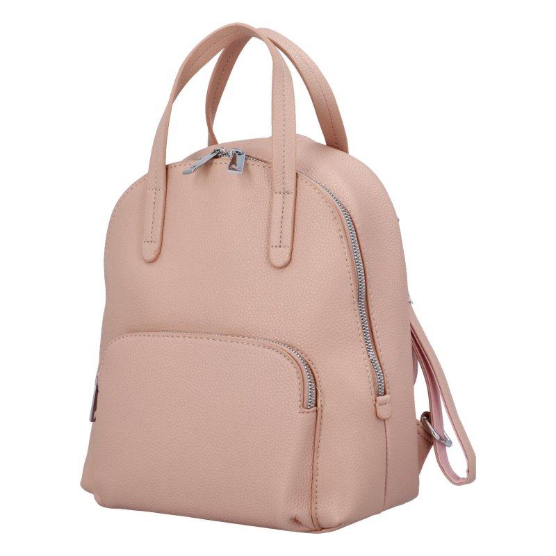 Městský batoh vhodný i do ruky Mauriel, růžový