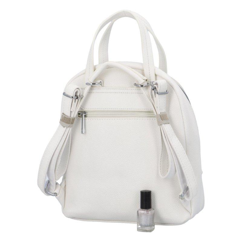 Městský batoh vhodný i do ruky Mauriel, bílý