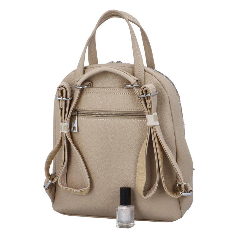 Městský batoh vhodný i do ruky Mauriel, meruňkový