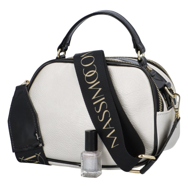Trendová dámská kabelka MCO Luxury, stříbrná