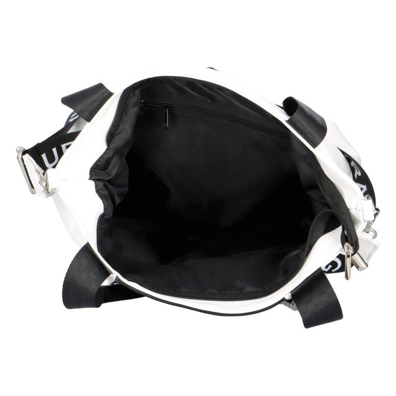 Luxusní kabelka Laura Biaggi Beauty, bílo-černá