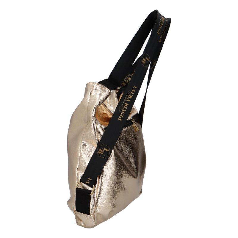 Praktická dámská taška L.B. Jeann, zlatá