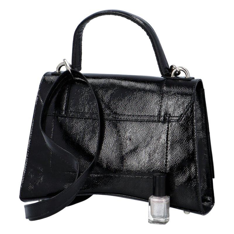 Extravagantní zajímavá dámská kabelka Elma, černá
