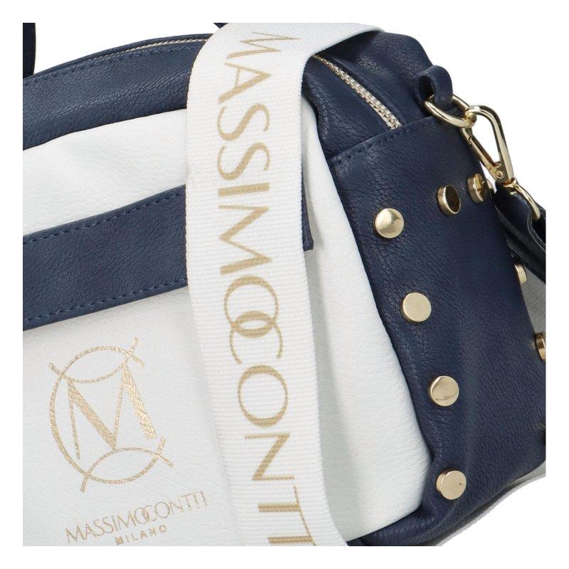 Nepřehlédnutelná dámská koženková crossbody M.C. Jeans, modrá