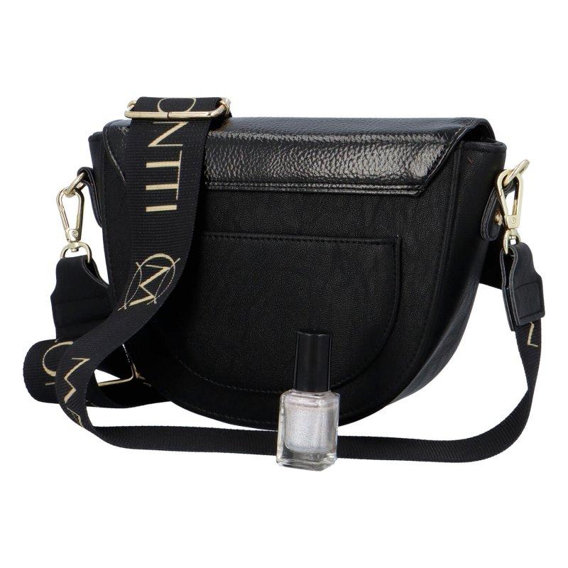 Luxusní půlkulatá crossbody Massimo Conti Luxury, černá