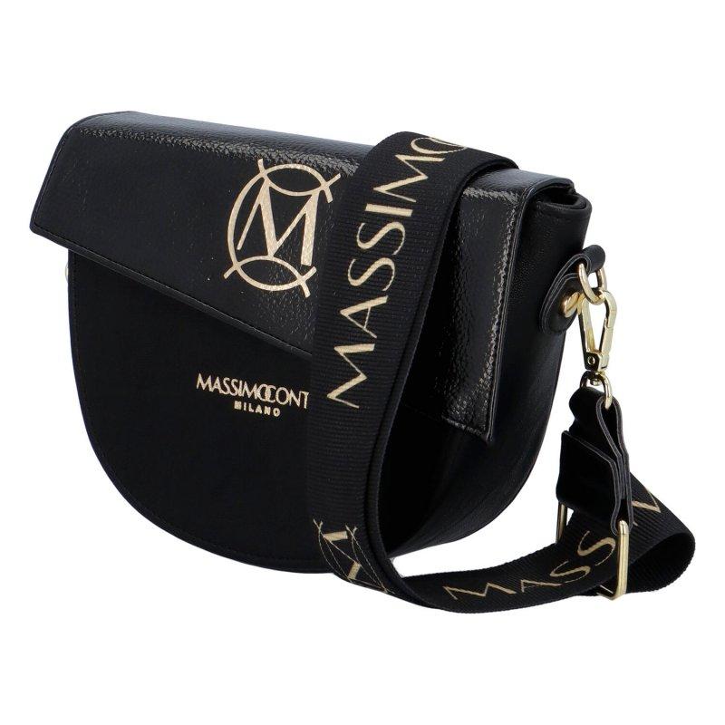 Nadčasová dámská luxusní crossbody M.C. Massimo, černá