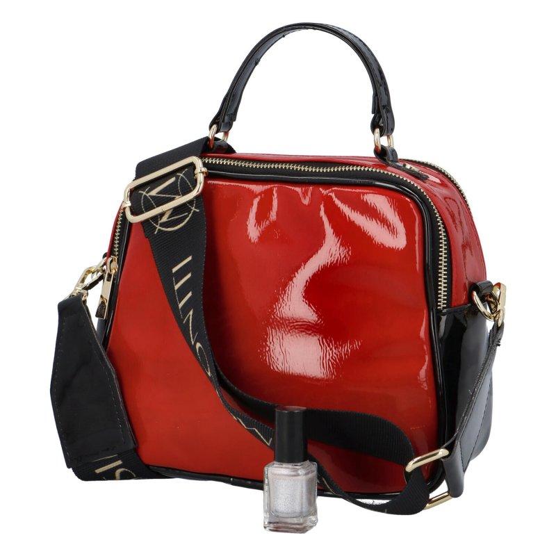 Trendová koženková kabelka CONTI M., červená