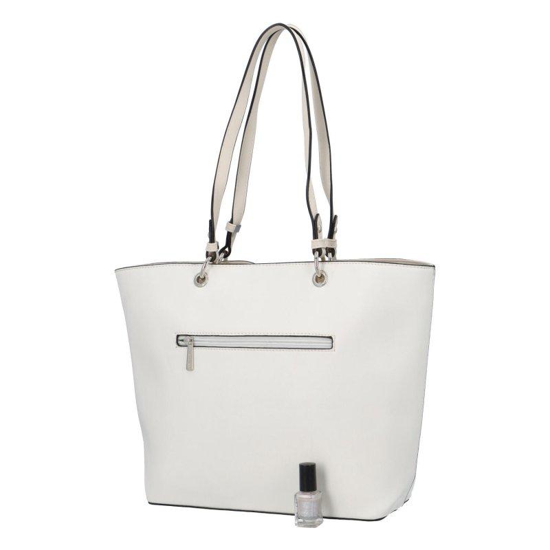 Stylová dámská koženková taška Grace, bílá