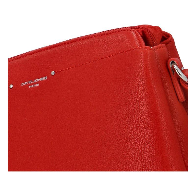 Příjemná dámská koženková crossbody Bibbi, červená