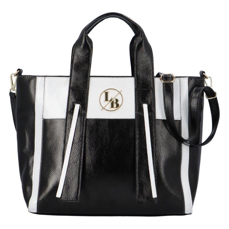 Extravagantní koženková kabelka Laura Bris, černá