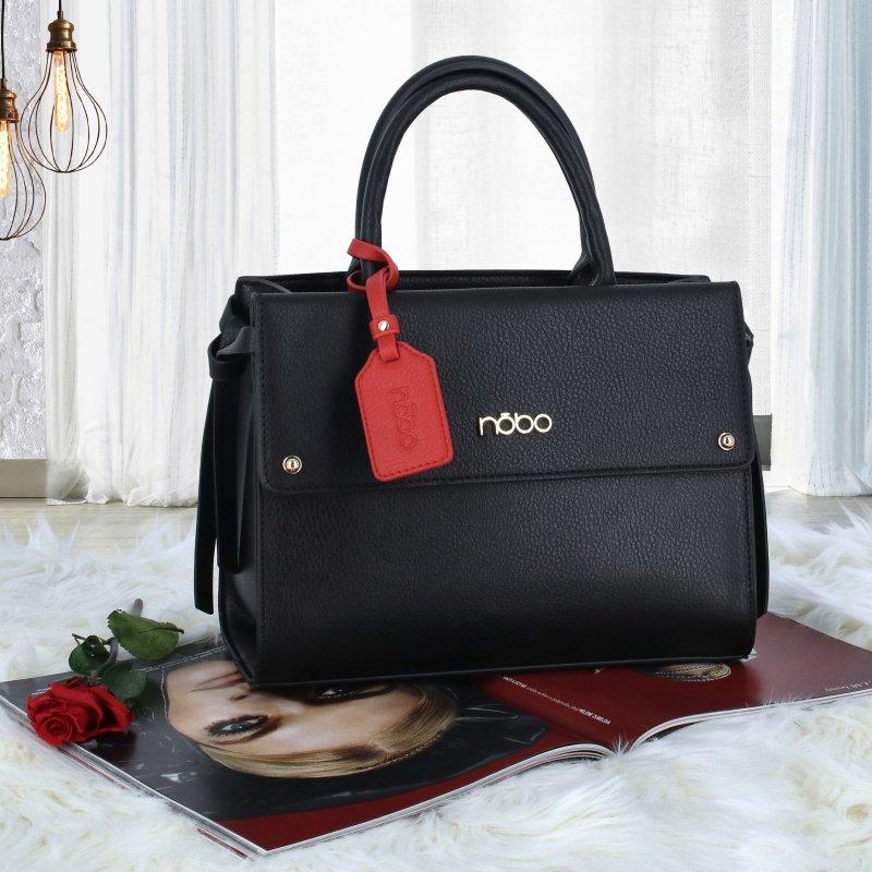 Dámská koženková kabelka Indilana, černá