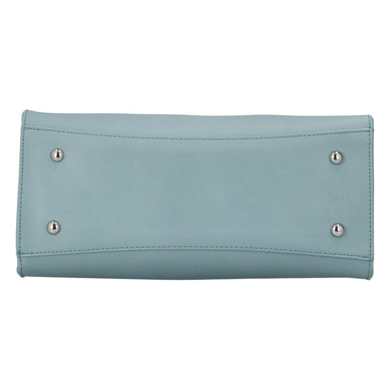 Trendová pevná dámská koženková kabelka Frank, zelená