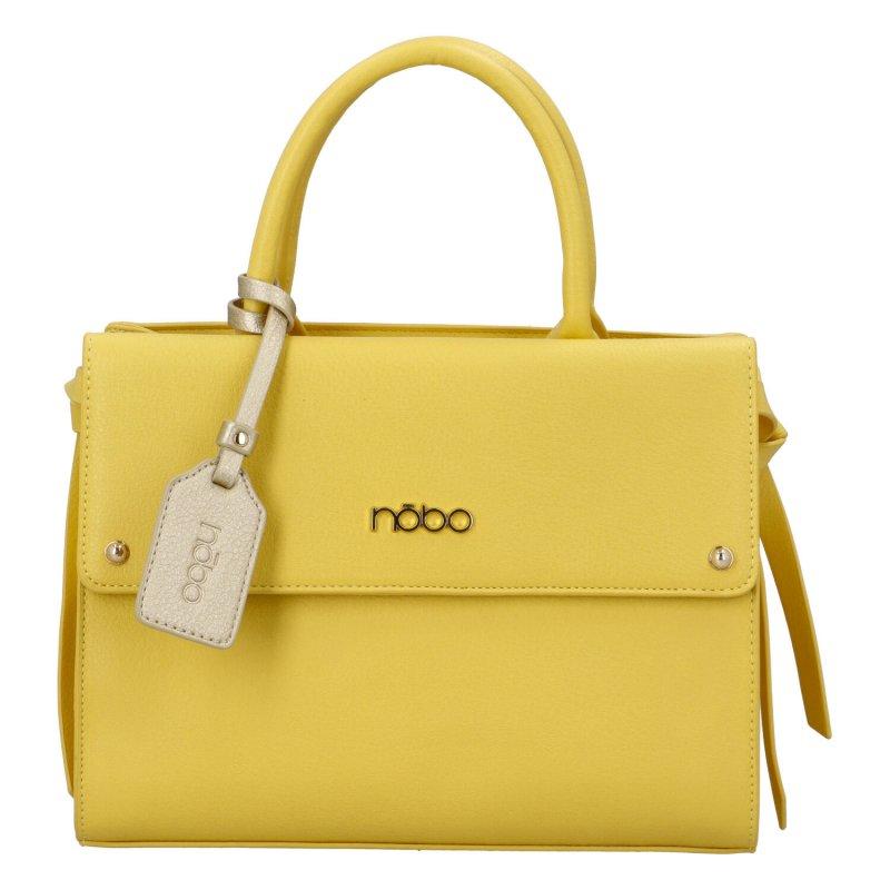 Dámská koženková kabelka Indilana, žlutá