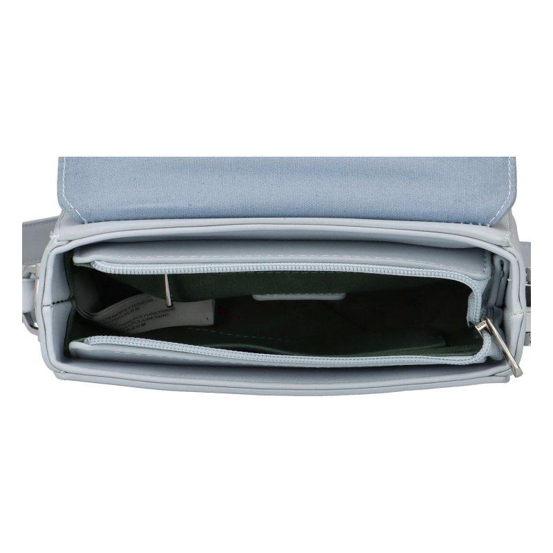 Módní praktická koženková crossbody Magnum, světle modrá