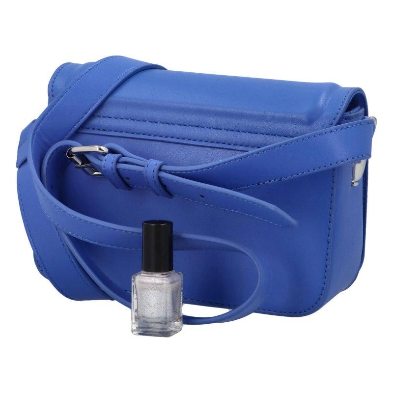 Módní praktická koženková crossbody Magnum, tmavě modrá