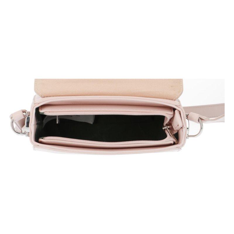 Módní praktická koženková crossbody Magnum, růžová