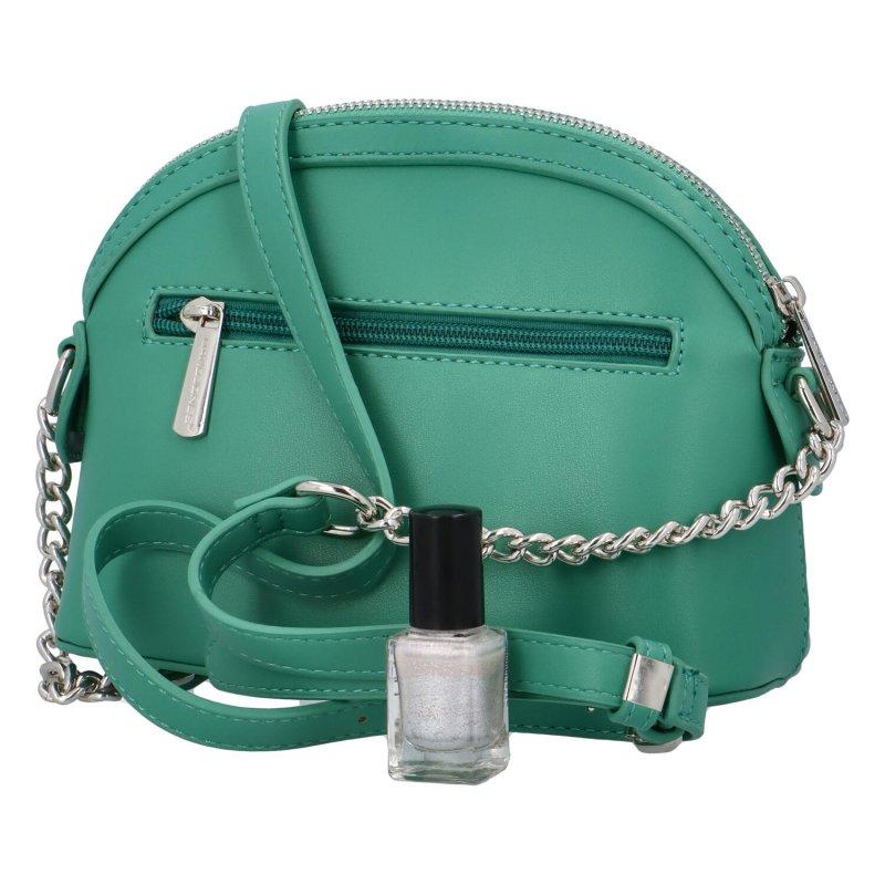 Prošívaná crossbody kabelka Nicole, zelená