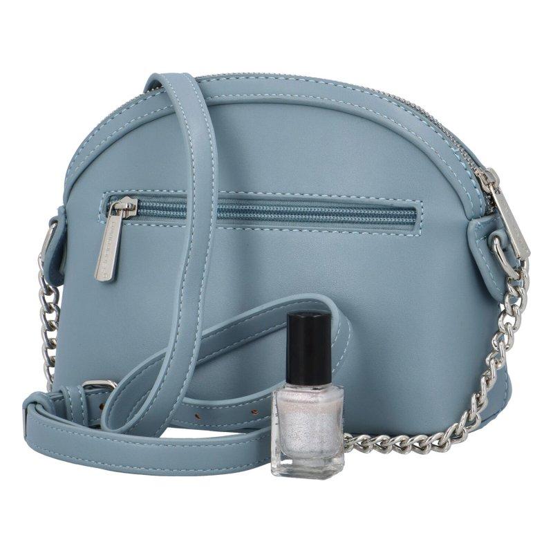 Prošívaná crossbody kabelka Nicole, světle modrá