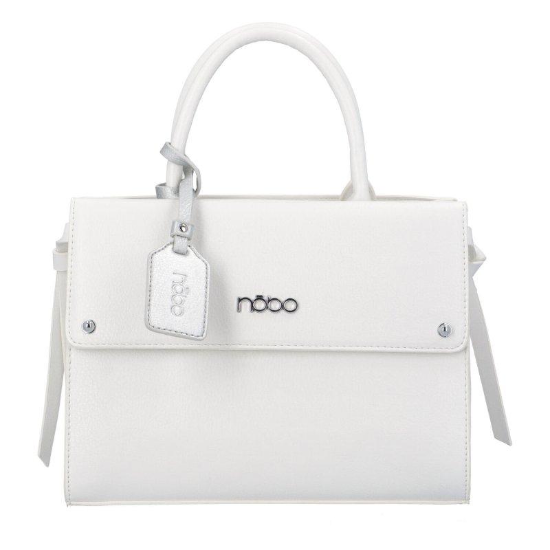 Dámská koženková kabelka Indilana, bílá