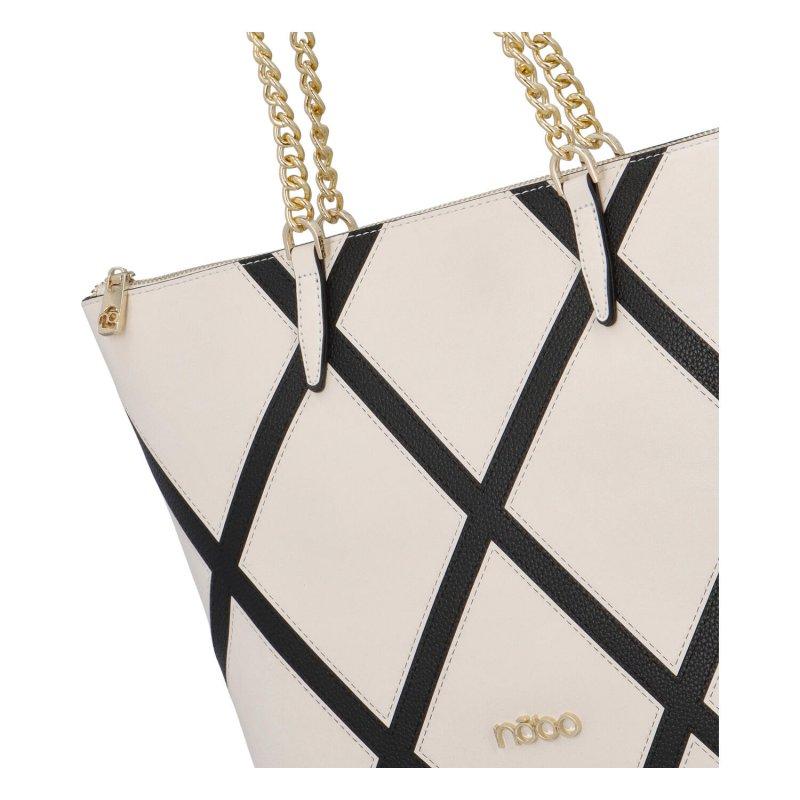 Stylová velká dámská koženková kabelka Nina, bílá