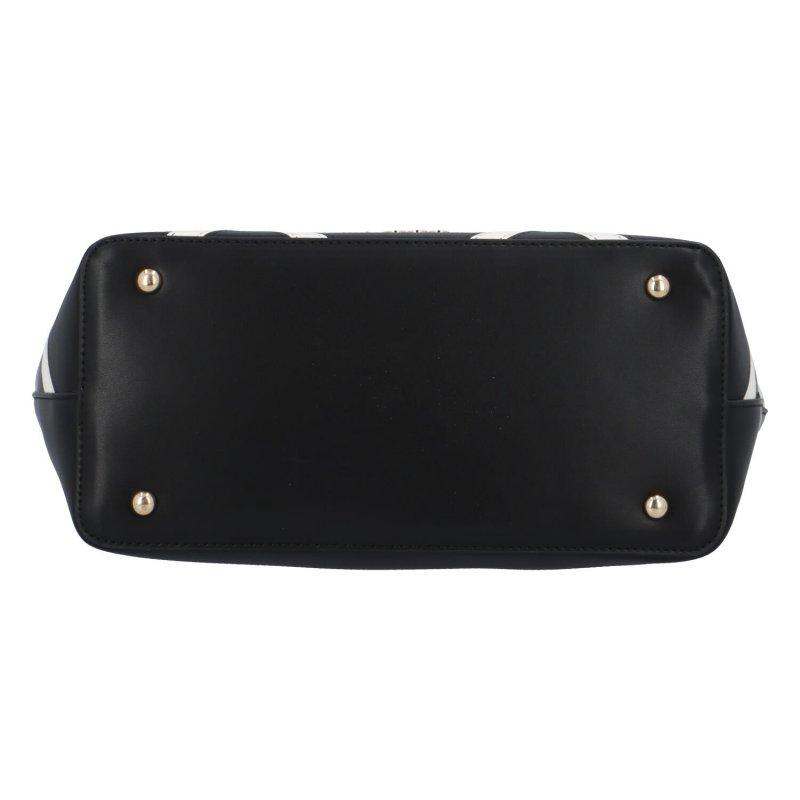 Stylová velká dámská koženková kabelka Nina, černá