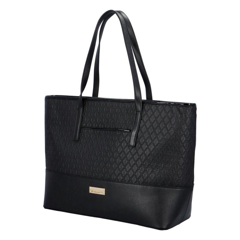 Stylová dámská koženková kabelka Hanas Style, černá