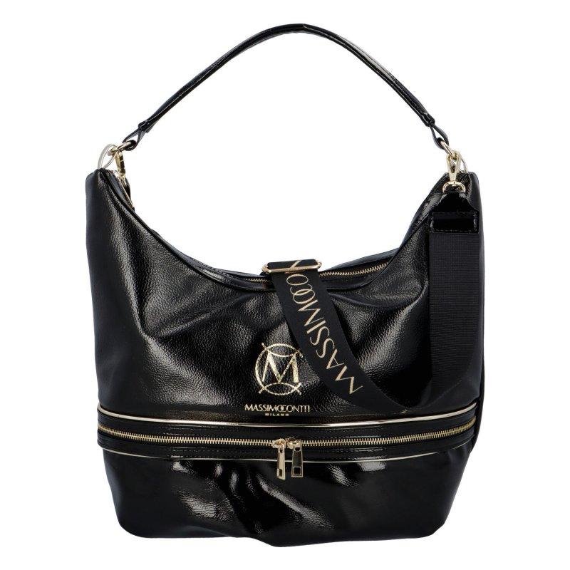 Luxusní dámská koženková kabelka MCO Suzan, černá