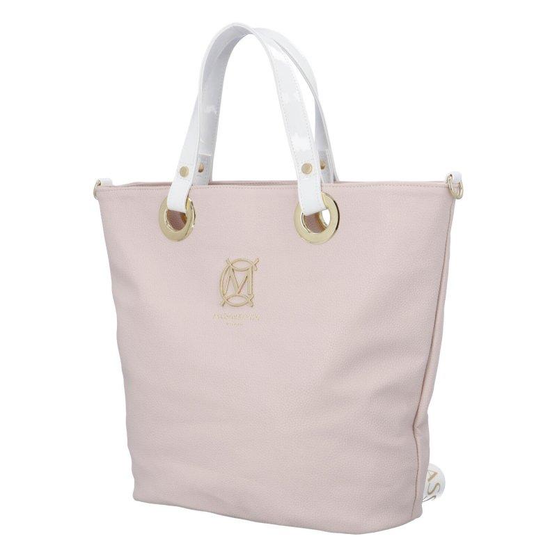 Elegantní dámská koženková kabelka MCO Therese, růžová