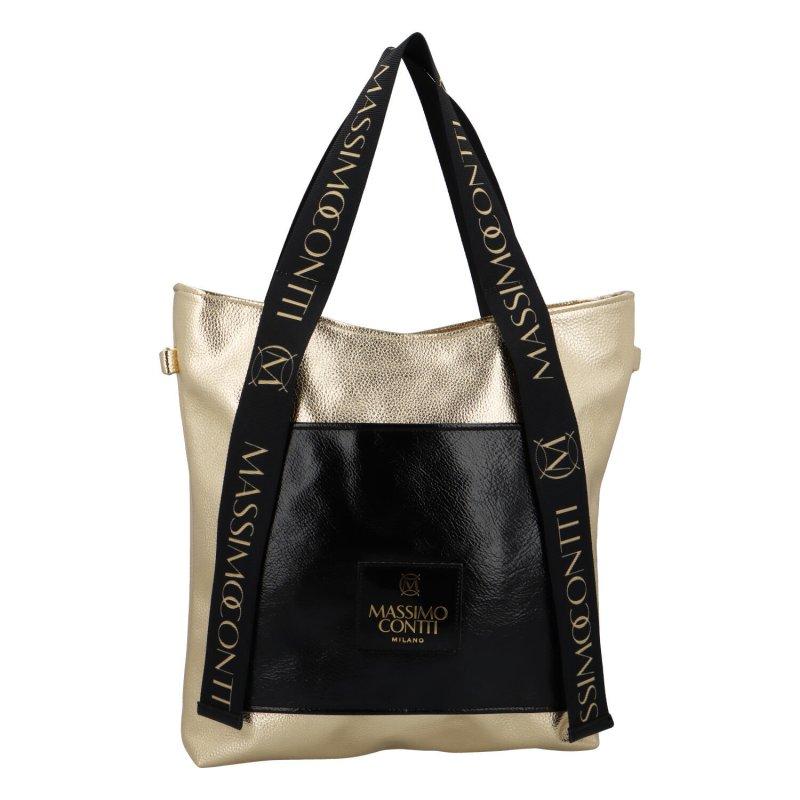 Luxusní shopper Ellie MCO, zlatá-černá