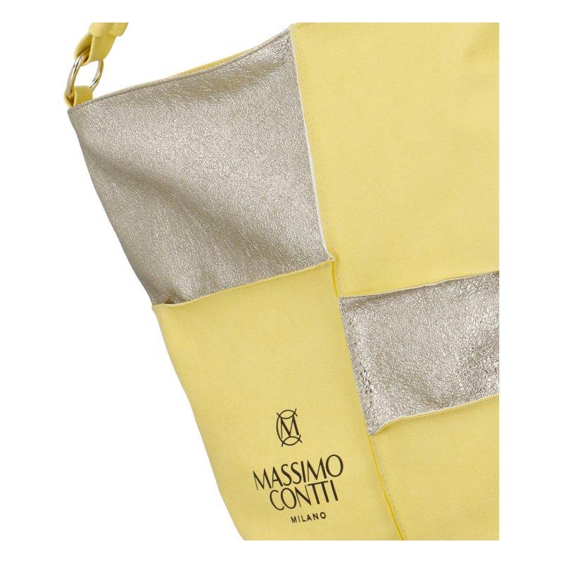 Trendy dámská kabelka MCO Chess, žlutá