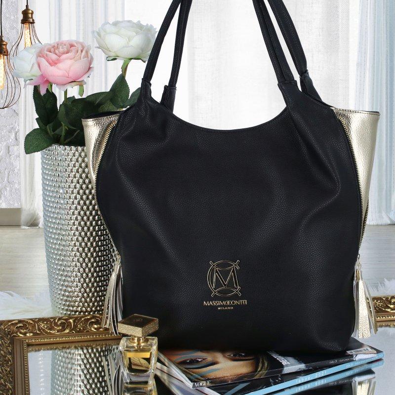 Luxusní prostorná kabelka MCO Monica, černá