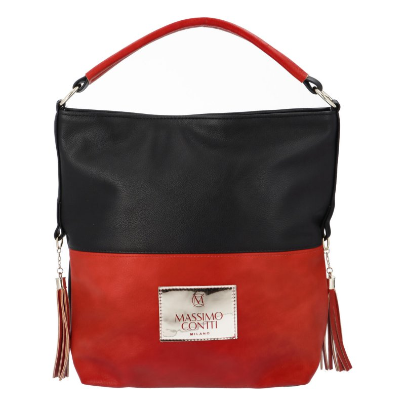 Trendy dámská koženková kabelka MCO Red Micky
