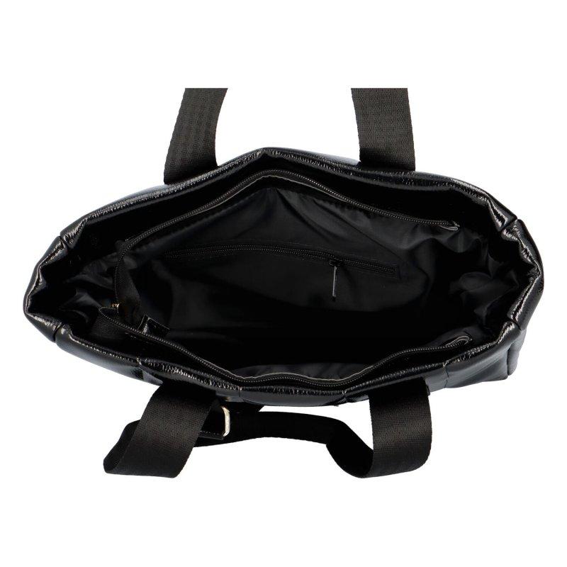 Luxusní prošívaná kabelka Maggio Lux, černá