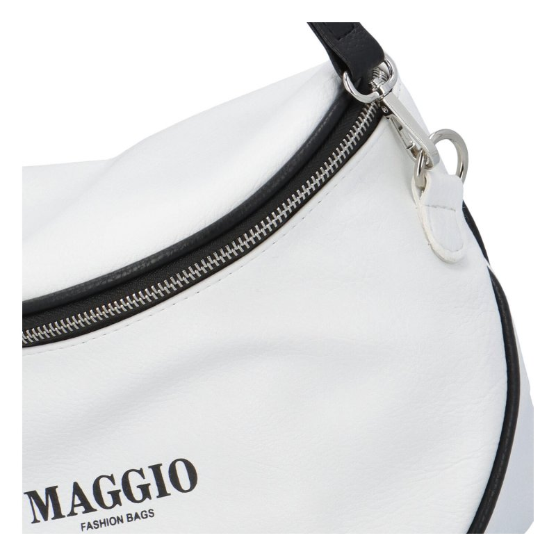 Koženková kabelka/ledvinka do ruky Maggio Rubi, bílá