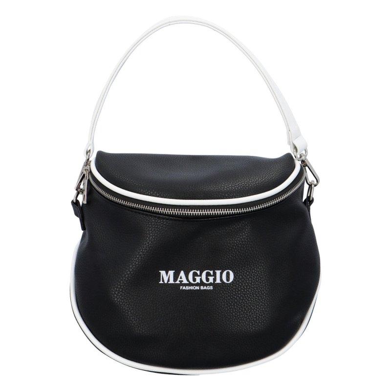 Koženková kabelka/ledvinka do ruky Maggio Rubi, černá