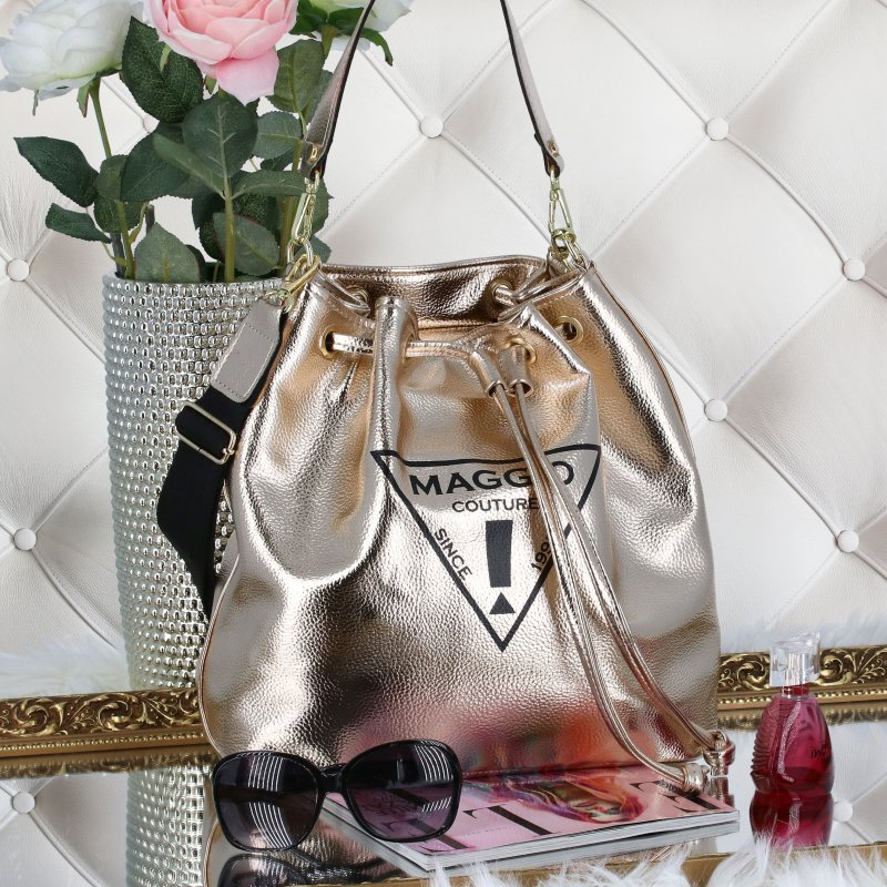 Koženkový kabelko-vak do ruky Maggio Marci, zlatý