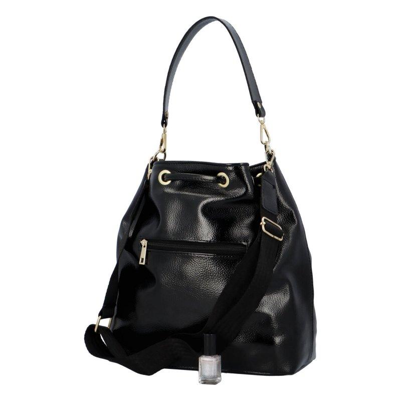 Koženkový kabelko-vak do ruky Maggio Marci, černý
