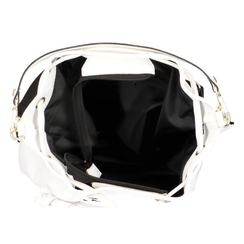 Koženkový kabelko-vak do ruky Maggio Marci, bílý