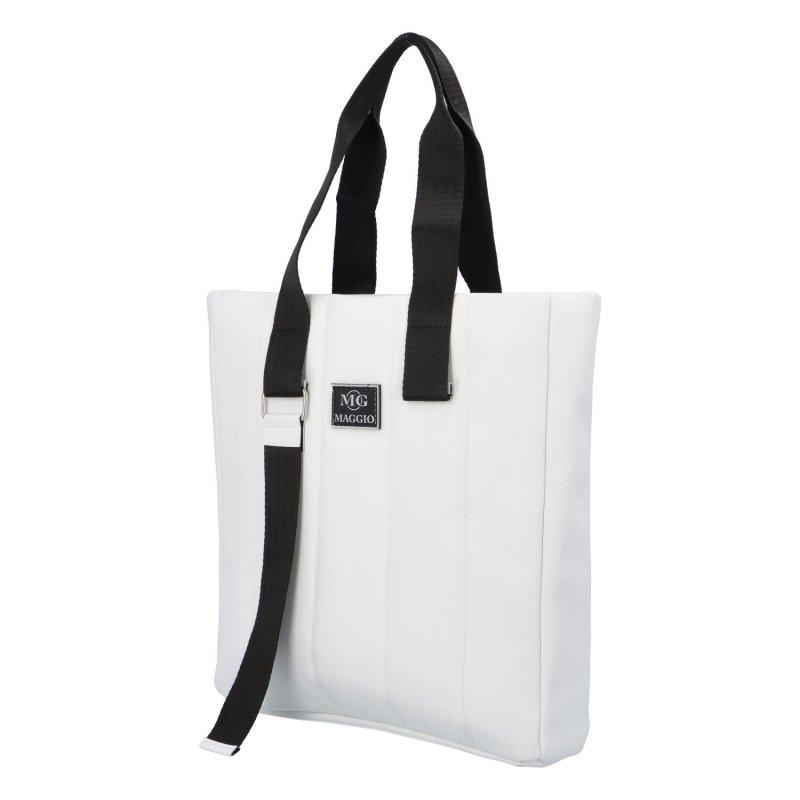 Luxusní prošívaná kabelka Maggio Lux, bílá