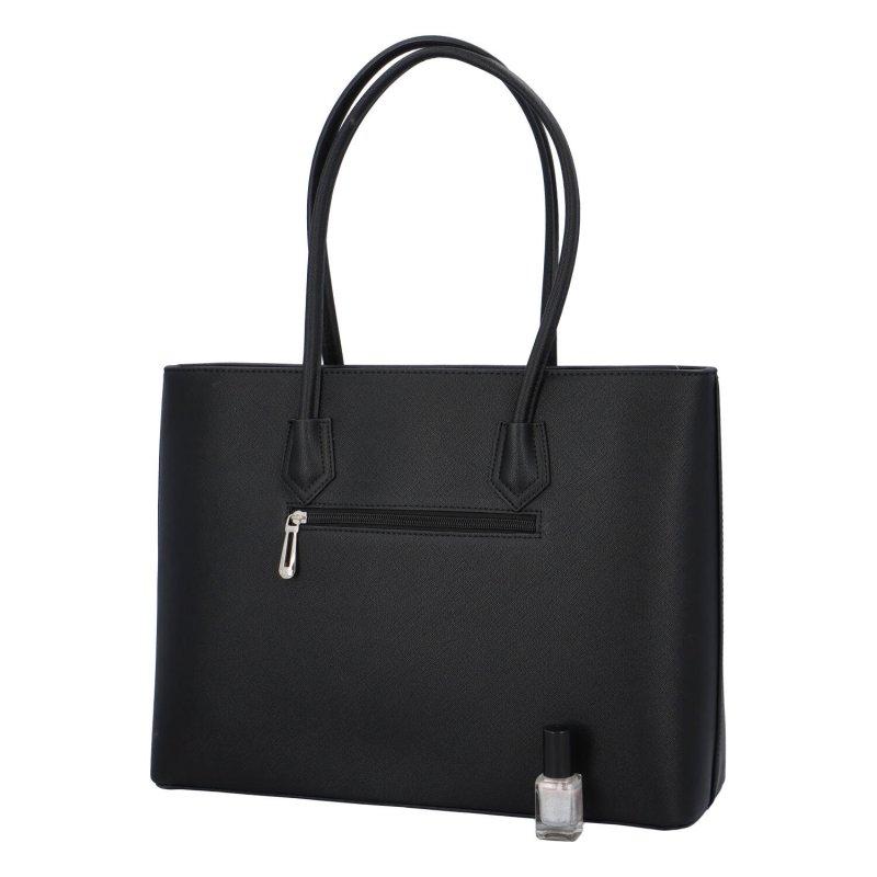 Dámská koženková taška Cloe, černá